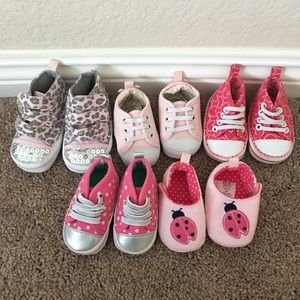 Other - Newborn Baby Shoes Sneaker Bundle